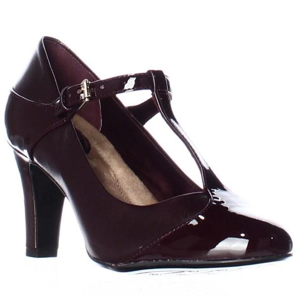 GB35 Vineza Mary Jane Memory Foam Pump Heels, Oxblood