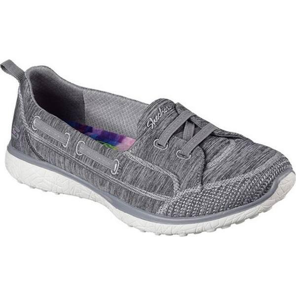aab328e063e0 Shop Skechers Women's Microburst Topnotch Walking Slip-On Gray - On ...