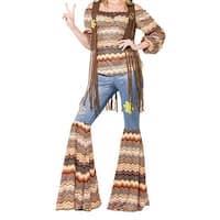 Smiffys Multi Brown Womens Size Medium M Harmony Hippie Costume