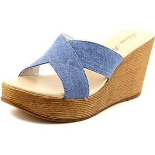 Athena Alexander Rialto Open Toe Canvas Wedge Sandal