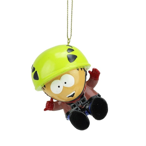 "3"" South Park Stan Zip-Lining Decorative Christmas Ornament - green"