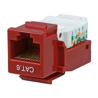 Monoprice Cat6 RJ-45 Toolless Keystone - Red