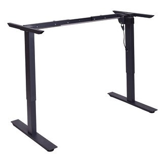 Gymax Black Electric Stand Up Desk Frame w/Single Motor Height Adjustable Standing Base