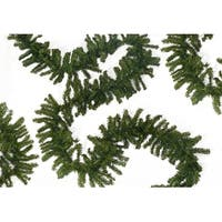 """50' x 12"""" Commercial Length Canadian Pine Artificial Christmas Garland - Unlit - Green"""