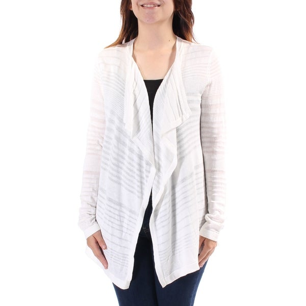 6a13e4e0093585 Shop CALVIN KLEIN Womens Ivory Long Sleeve Open Handkerchief Sweater Size:  M - Free Shipping On Orders Over $45 - Overstock - 21935318
