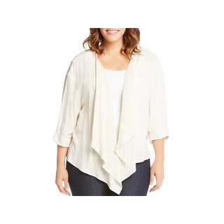 Karen Kane Womens Plus Basic Jacket Woven Drape