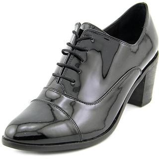 Steven Steve Madden Jelan Women Round Toe Patent Leather Black Oxford