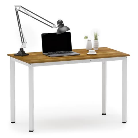 """Simple Computer Desk 39"""" Modern Small Desk Study Writing Desk Laptop Desk Coffee Table for Home Office Small Space"""