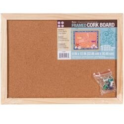 "- Framed Cork Memo Board 9""X12"""