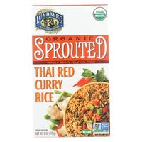 Lundberg Family Farms Organic Sprouted Rice - Thai Red Curry - Case of 6 - 6 oz