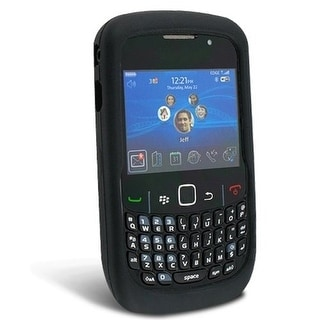 Wireless Solutions Black Soft Silicone Gel Skin Cover Case for BlackBerry Curve