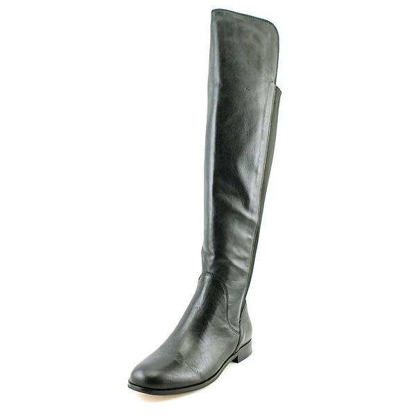 Corso Como Larissa Women Round Toe Leather Black Over the Knee Boot