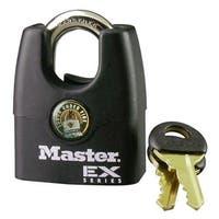 "Master Lock 1DEX Shrouded Padlock, 1-3/4"", Black"