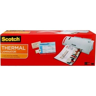 """15.5""""X6.75""""X3.75""""; Includes 20 Pouches - Scotch Thermal Laminator Combo Pack"""