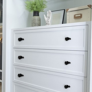 Ceramic Vintage Knob Drawer Pull Handle Cupboard Wardrobe Dresser Door Black