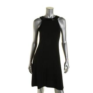 Ralph Lauren Womens Beaded Fit & Flare Cocktail Dress