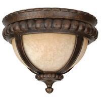 Craftmade Z1217 1-Light Down Lighting Outdoor Flush Mount Ceiling Fixture from the Prescott Collection - Peruvian Bronze - N/A