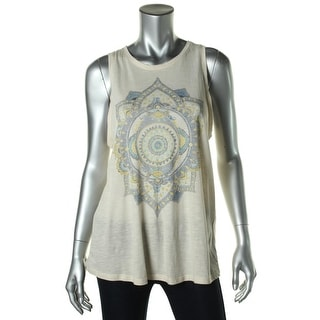 Lucky Lotus Womens Micromodal Graphic Tank Top - M
