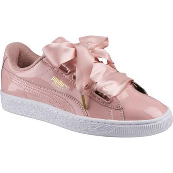new styles f38da cbd5f Shop PUMA Women's Basket Heart Patent Sneaker Peach Beige ...