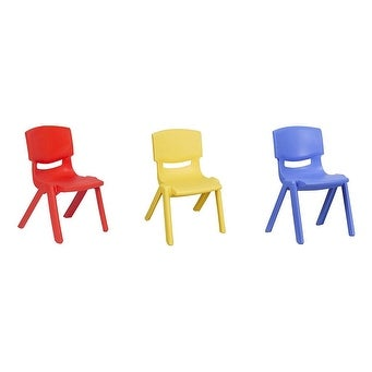 JOON Stackable Plastic Kids Learning Chairs, 20.8x12.5 Inches