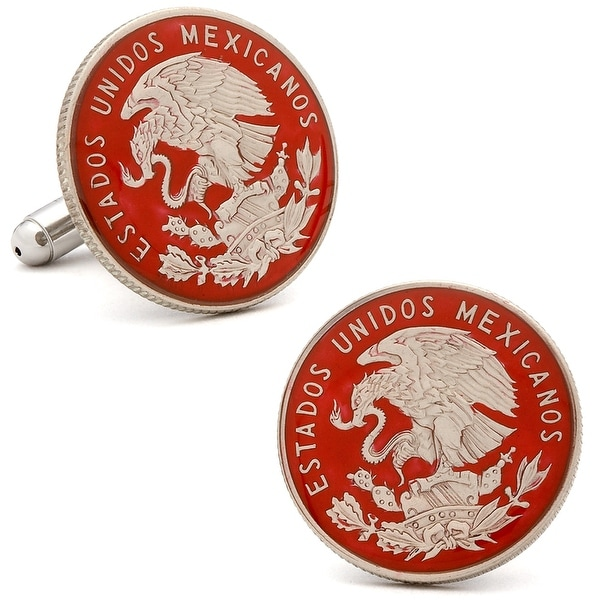 Hand Painted Mexican Coin Cufflinks