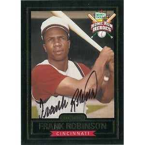Frank Robinson Signed Cincinnati Reds Hillshire Farms Home Run Heroes Baseball Card