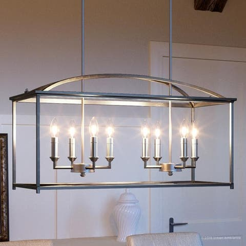 "Luxury Moroccan Chandelier, 16.5""H x 30.125""W, with Traditional Style, Brushed Nickel Finish by Urban Ambiance"