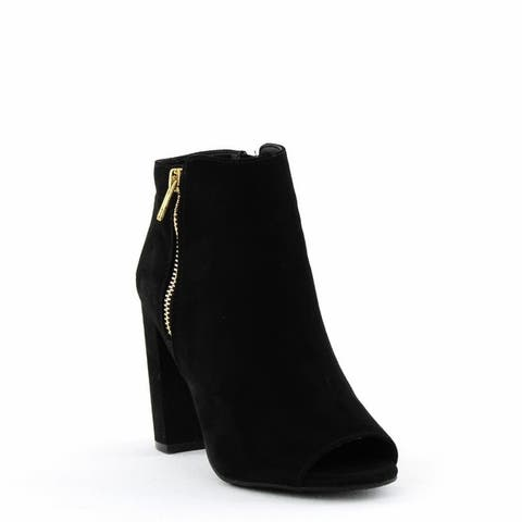 Material Girl Carena Open-Toe Fashion Boots Black