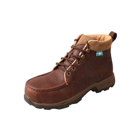 Twisted X Outdoor Shoes Womens CT Hiker Leather WP Dk Brn - Dark Brown