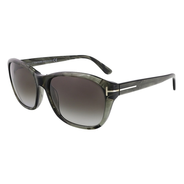 Tom Ford FT0396/S  20B London Olive Horn Rectangle Sunglasses - olive horn - 58-17-140