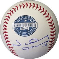 Johnny Damon signed 2009 Inaugural Season Yankee Stadium Logo Rawlings Baseball New York Yankees