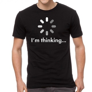 I'm Thinking Loading Funny Graphic Design Men's Black T-shirt