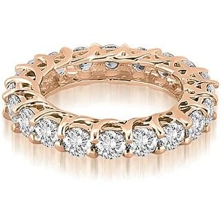 3.30 cttw. 14K Rose Gold Round Diamond Eternity Ring