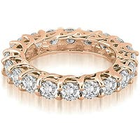 14K Rose Gold 3.30 cttw. Round Diamond Eternity Ring HI,SI1-2