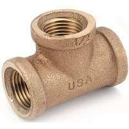 Anderson Metals 738101-06 Brass Pipe Fitting Tee, 3/8