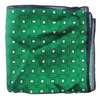 Zara Mens Geometric Print Contrast Trim Pocket Square - M