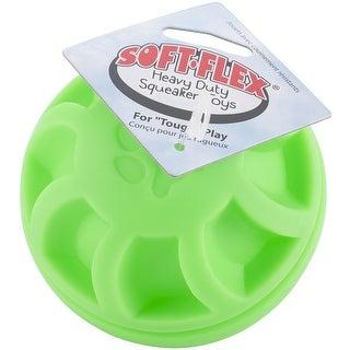 Soft-Flex Swirl Ball Dog Toy, 4-inch Green