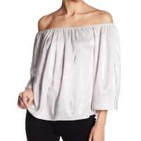 Love On A Hanger NEW Silver Women's Size Large L Off Shoulder Blouse