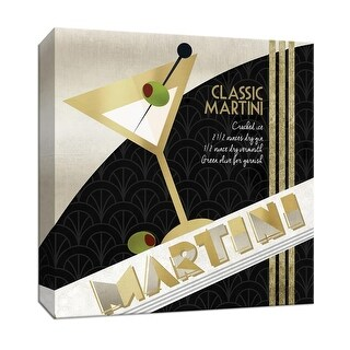 """PTM Images 9-147178  PTM Canvas Collection 12"""" x 12"""" - """"Martini Cocktail"""" Giclee Liquor & Cocktails Art Print on Canvas"""