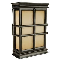 Craftmade CH1505 Hand-Carved Window Pane Cabinet Chime from the Traditional Collection - black semi gloss