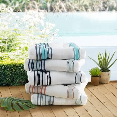 Madison Park Bolinas Printed Stripe 3M Scotchgard Outdoor Cushion