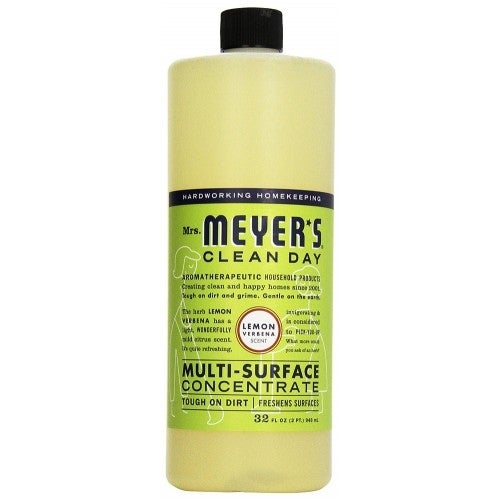 Mrs. Meyer's Multi-Surface Concentrate Cleaner, Lemon Verbena, 32 Ounces - Green