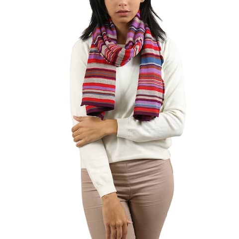 Missoni Striped Purple/ Multicolored Scarf - 16-80