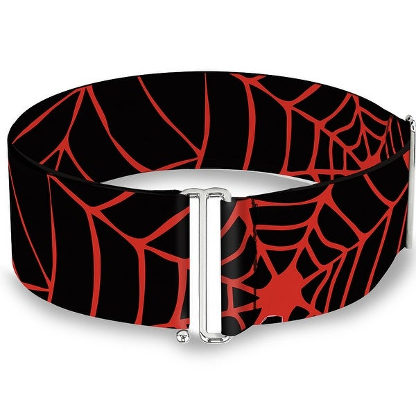 Spider web Black Red Cinch Waist Belt ONE SIZE