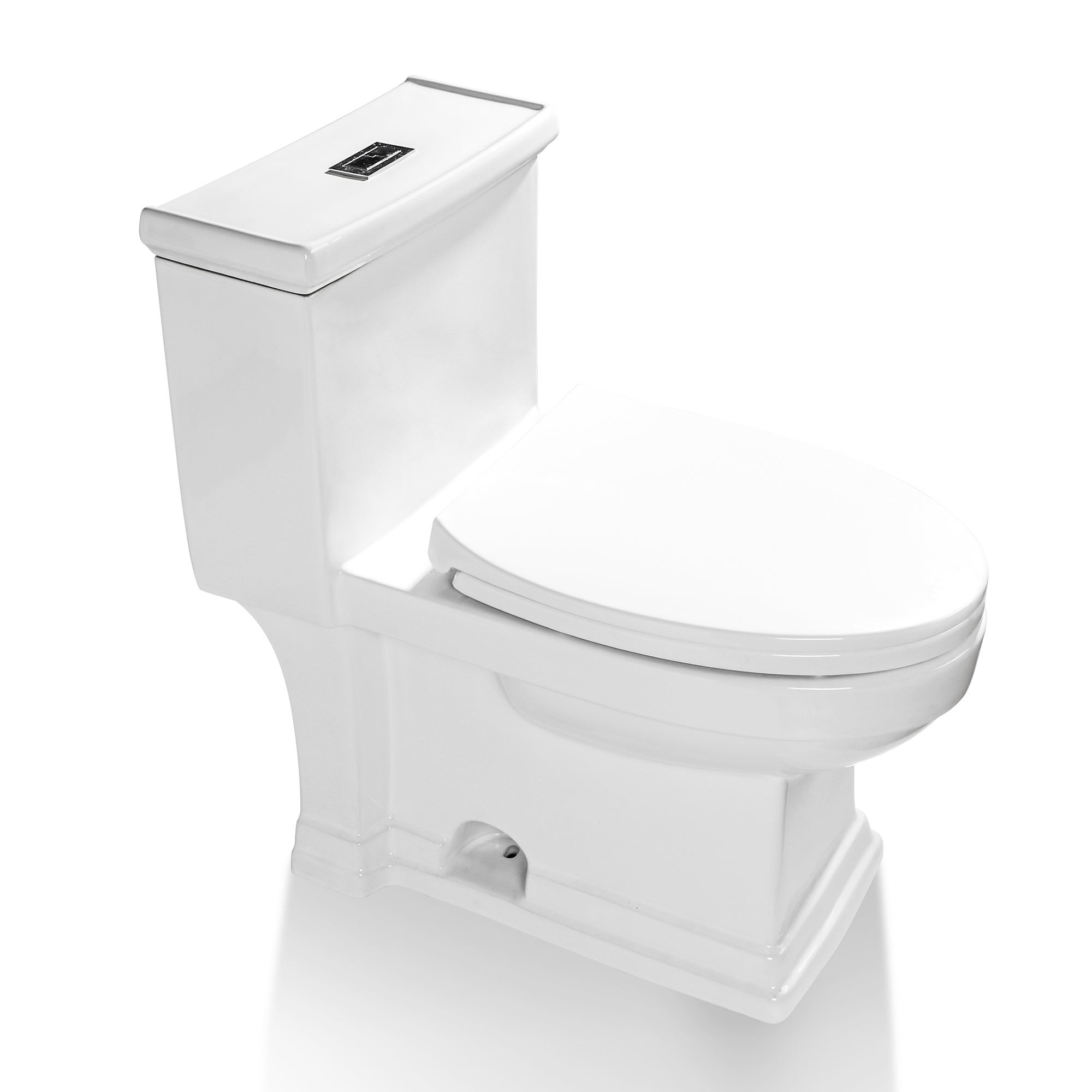 1 28 Gpf Water Efficient Elongated One Piece Toilet Seat Included On Sale Overstock 32523420
