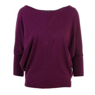 VELVET BY GRAHAM & SPENCER Womens Vintage Slub Dolman Sleeve Pullover Top - L