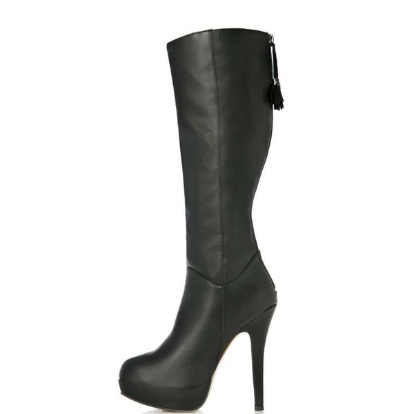 Just Fab Womens Dixie Closed Toe Mid-Calf Fashion Boots