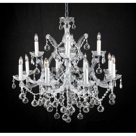 Swarovski Elements Crystal Trimmed Chandelier Lighting New Lighting With Faceted Crystal Balls