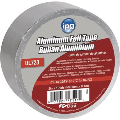 "Intertape Polymer Group 2""X10yd Alum Foil Tape 9200 Unit: EACH"