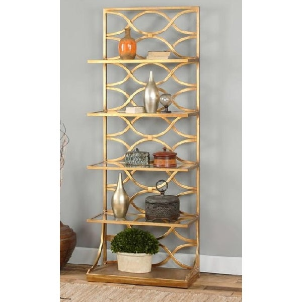 Shop 80 Quot Golden Geometric Stretched Oval Etagere Display
